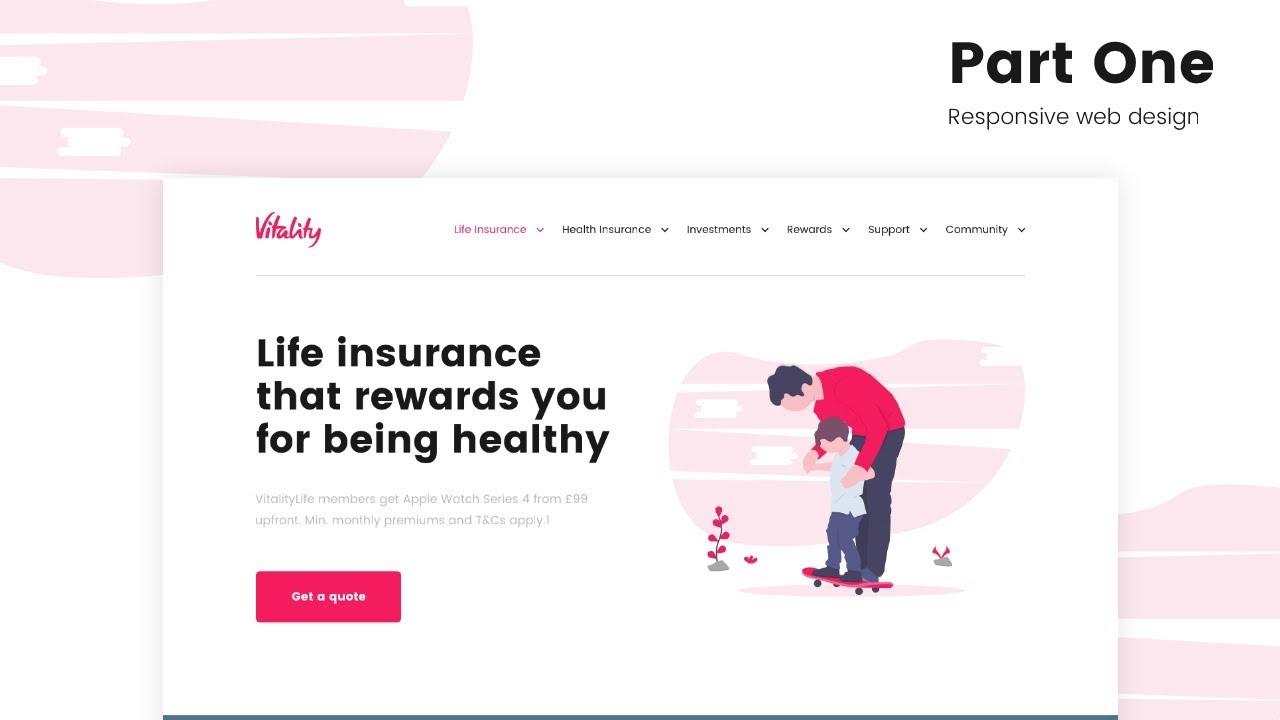 PART 1 – Web Design Speed Code – Vitality Life Insurance