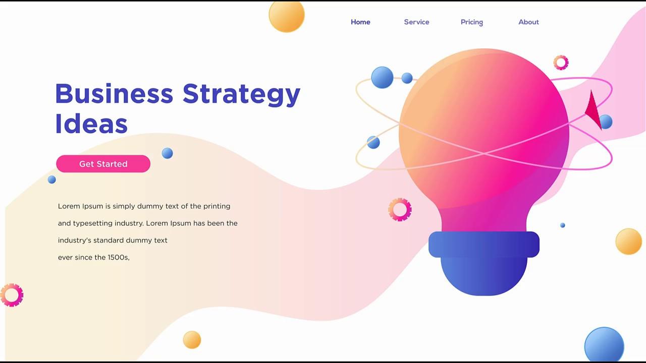 Business Web UI Design In CorelDraw – CorelDraw Tutorial